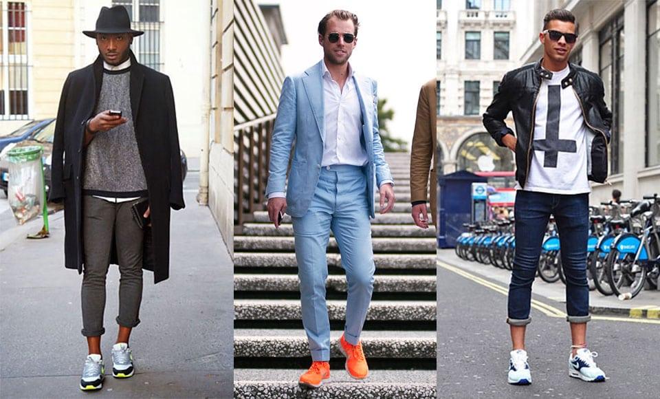 Kết hợp giày thể thao cổ điển với quần denim bó sát, quần short chino cá tính và áo thun